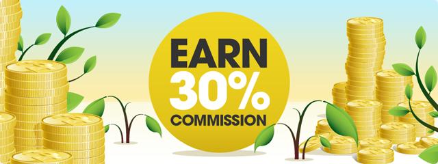Earn 30% per sale