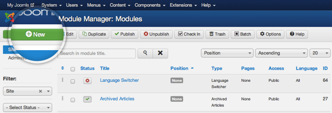 add new module