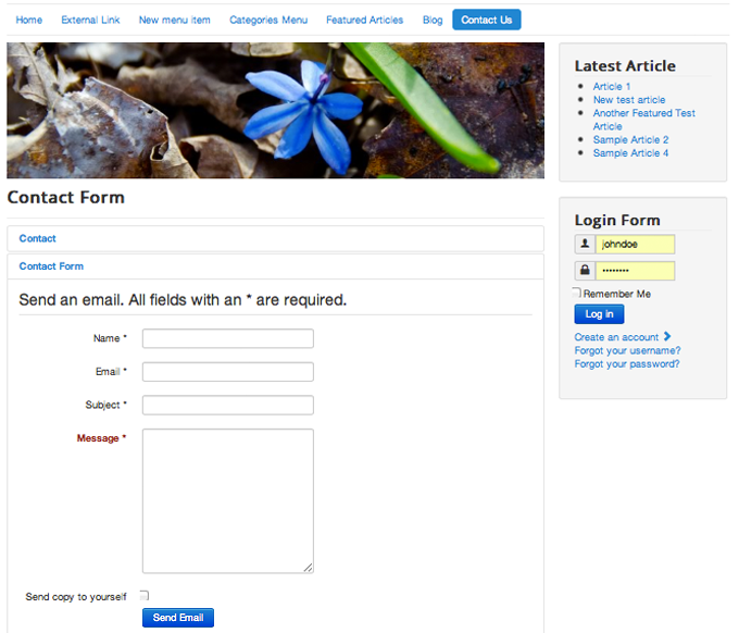 Create A Simple Joomla 3 Contact Us Page