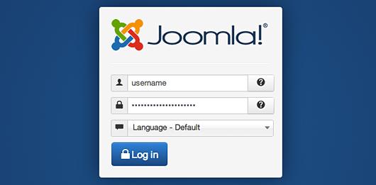 Access Joomla Login Screen