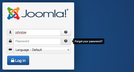 What to do if you forget your login information