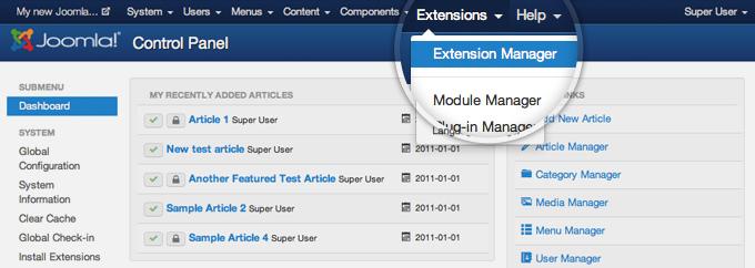 Update Joomla Extensions