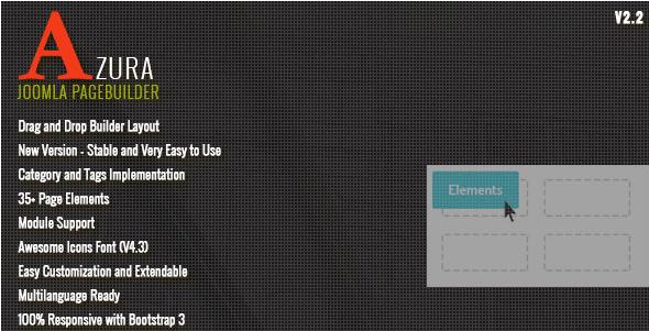 Azura - Responsive Joomla Page Builder