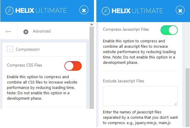 advanced settings Helix Ultimate