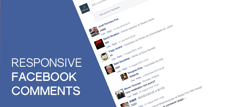 3. Responsive Facebook Comments