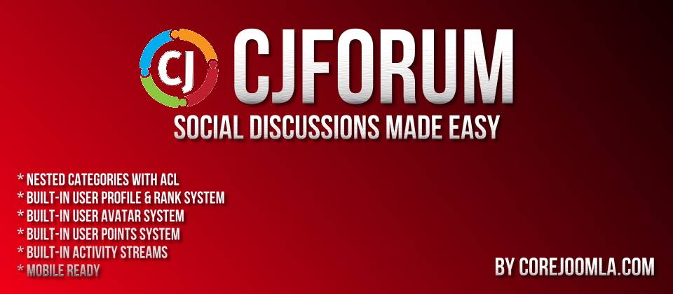 CjForum joomla forum extension