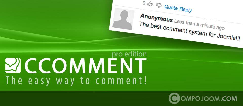 CComment Pro joomla article comments extension
