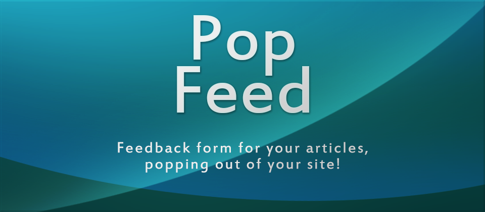 PopFeed joomla article comments extension