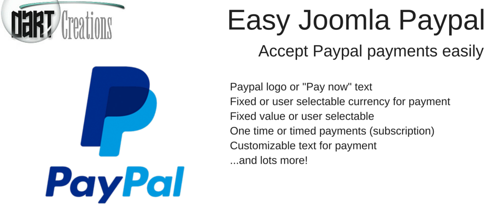 Easy Joomla Paypal Joomla payment systems extension