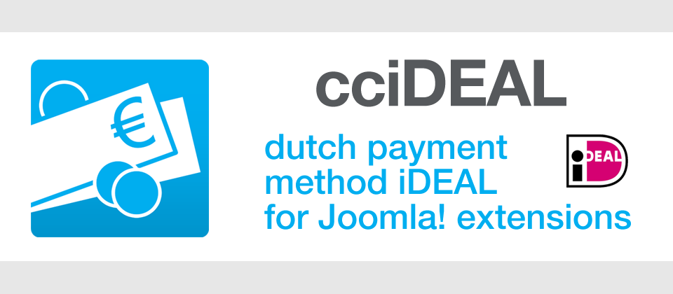 cciDEAL Platform joomla payment systems extension