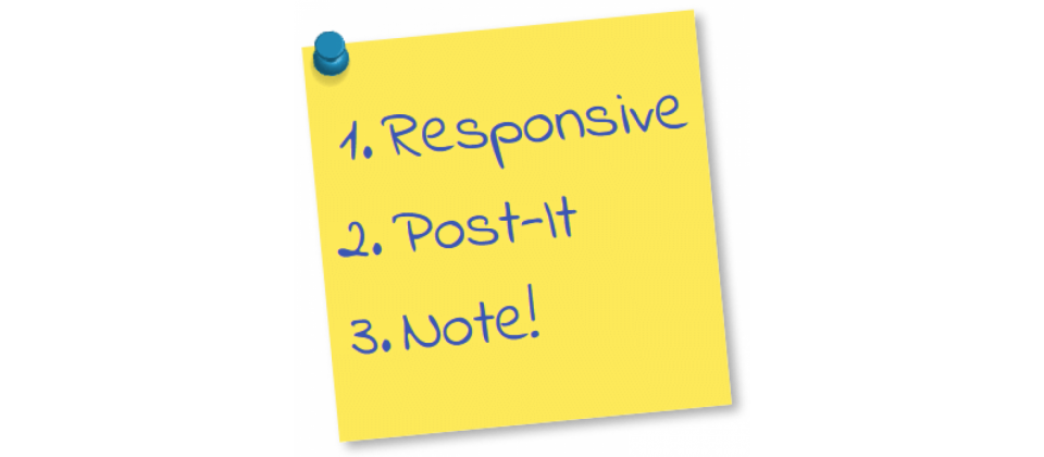 Responsive Post-it Note joomla extension