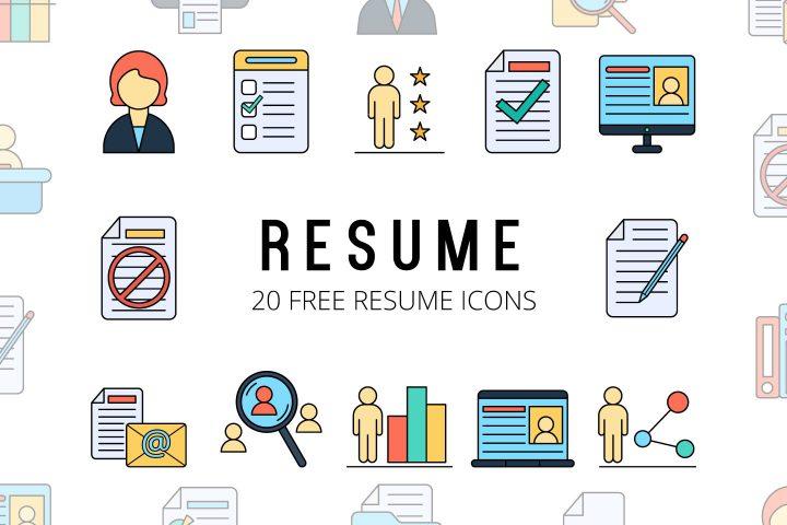 Set Of 20 Free Resume Icons