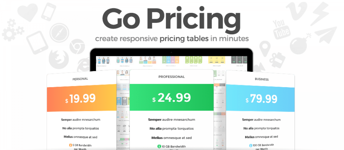 Go Pricing joomla table extension