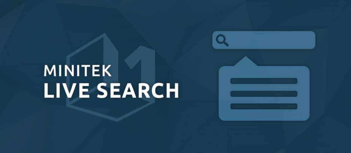 Minitek Live Search joomla extension