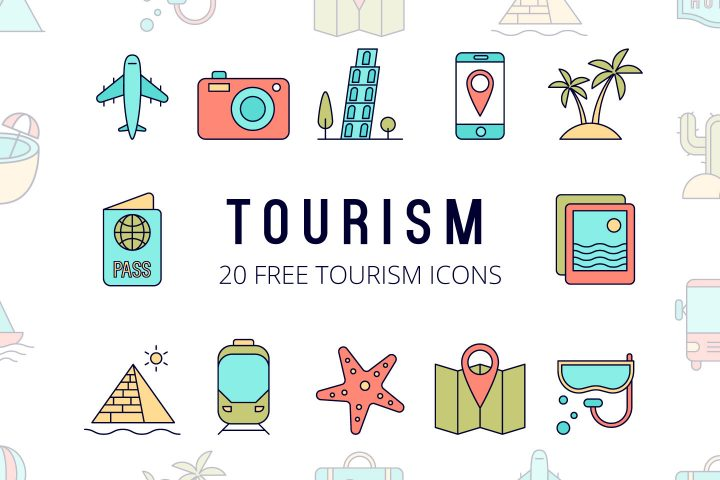 Set Of 20 High-quality Free Tourism Icons