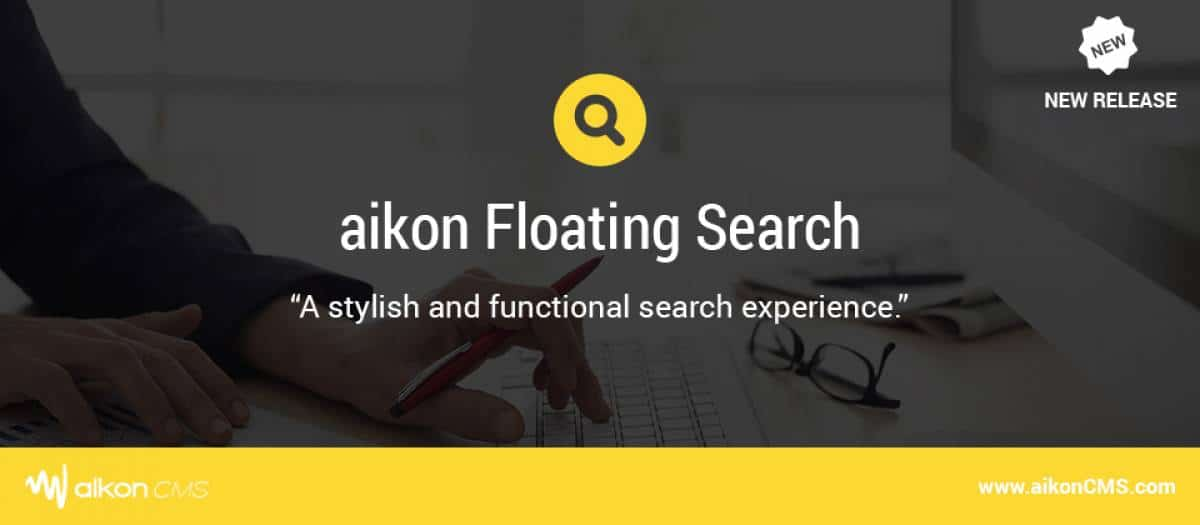 aikon Floating Search Joomla extension