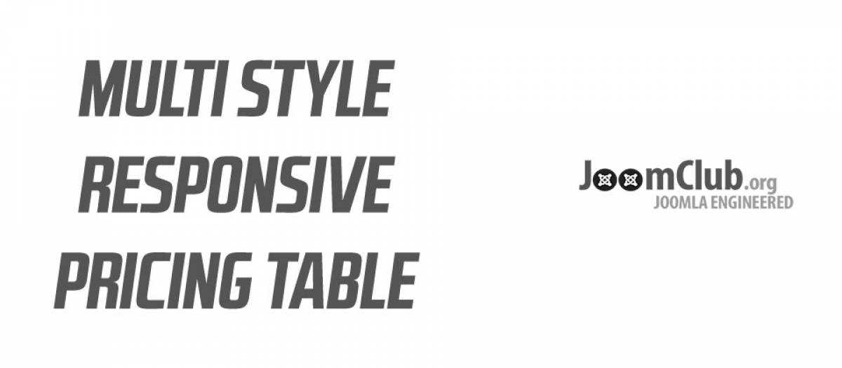 Joomla Table Extension