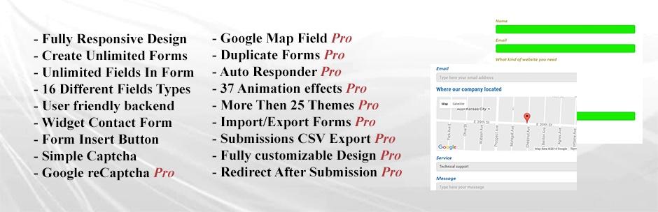 Contact Form Builder, Contact Widget, one of the best WordPress Contact Us Plugin