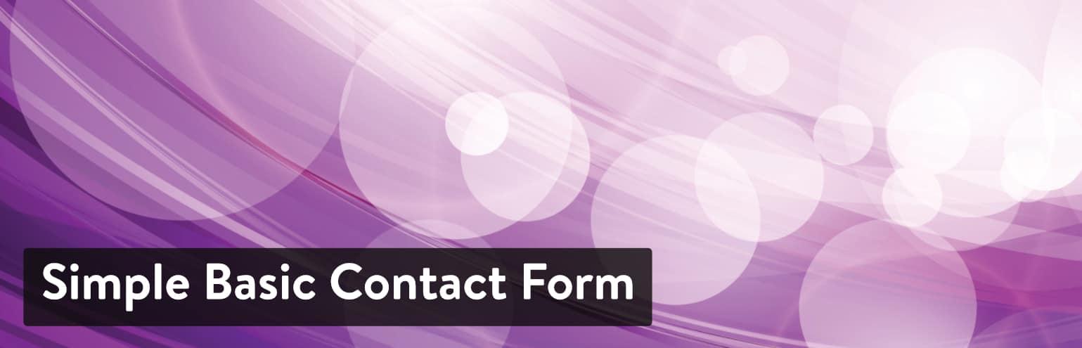 Simple Basic Contact Form, a nice WordPress Contact Us Plugin