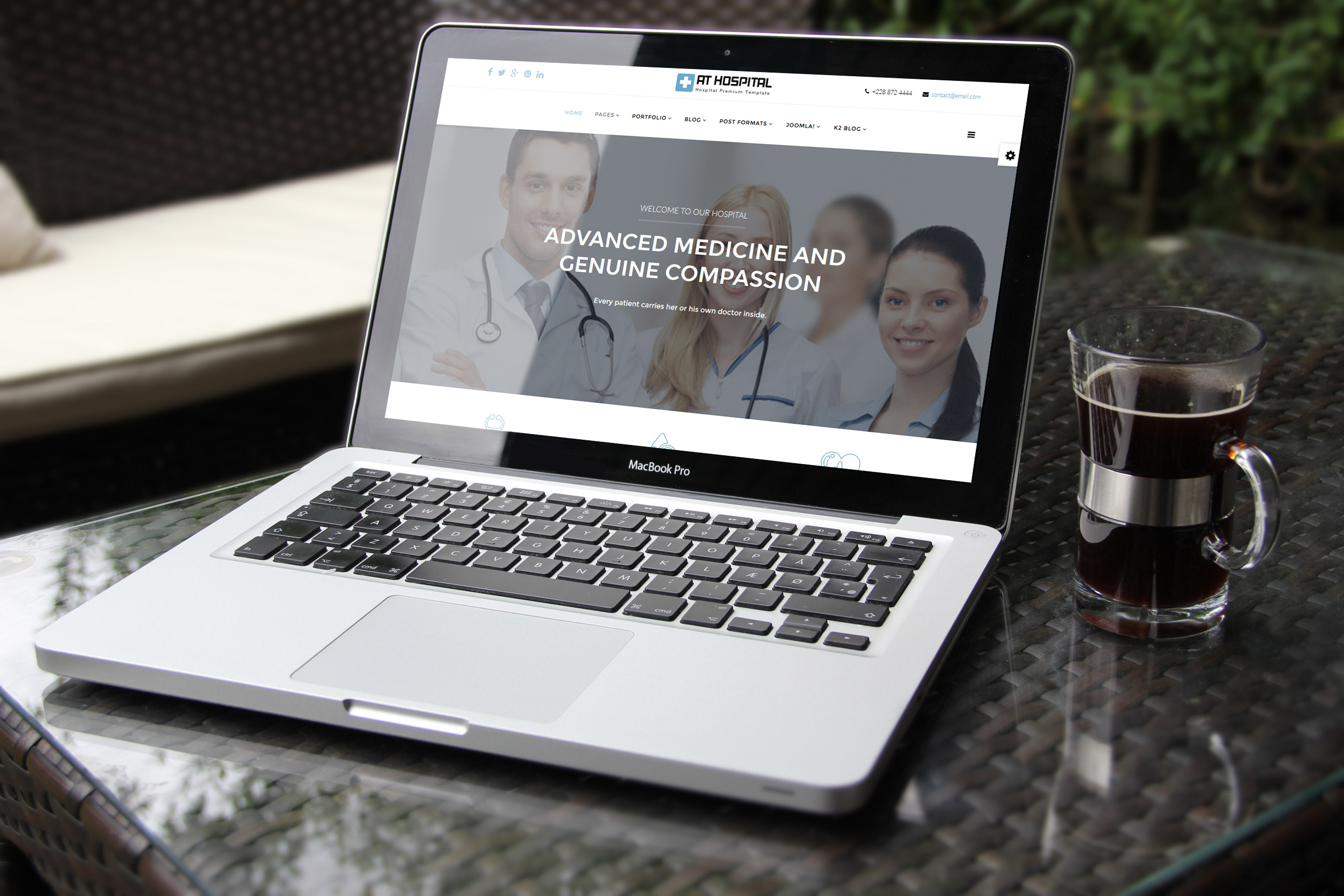 AT Hospital Joomla! template preview