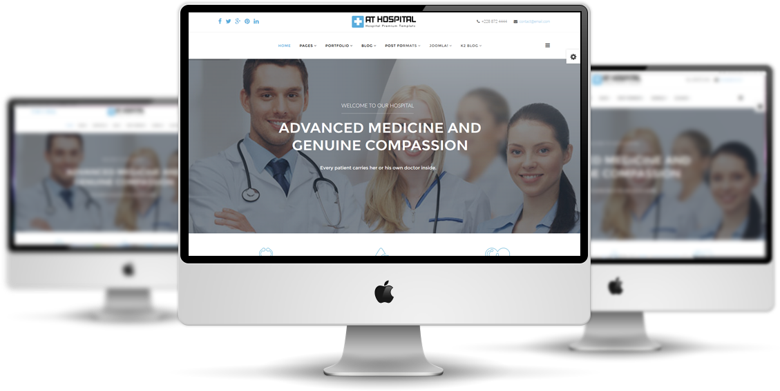 AT Hospital Joomla! template