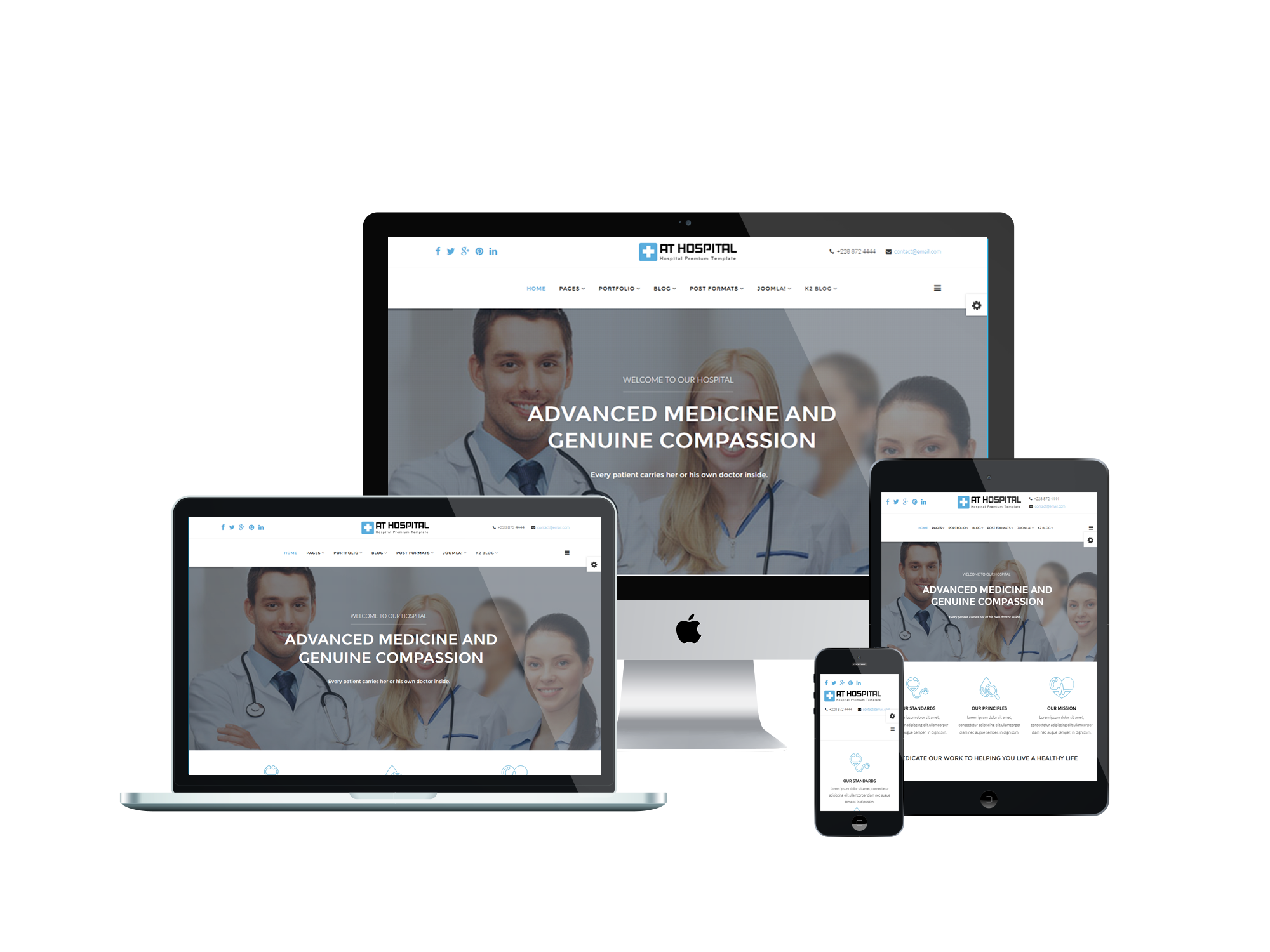 At hospital free medical hospital joomla template for Free joomla template creator software