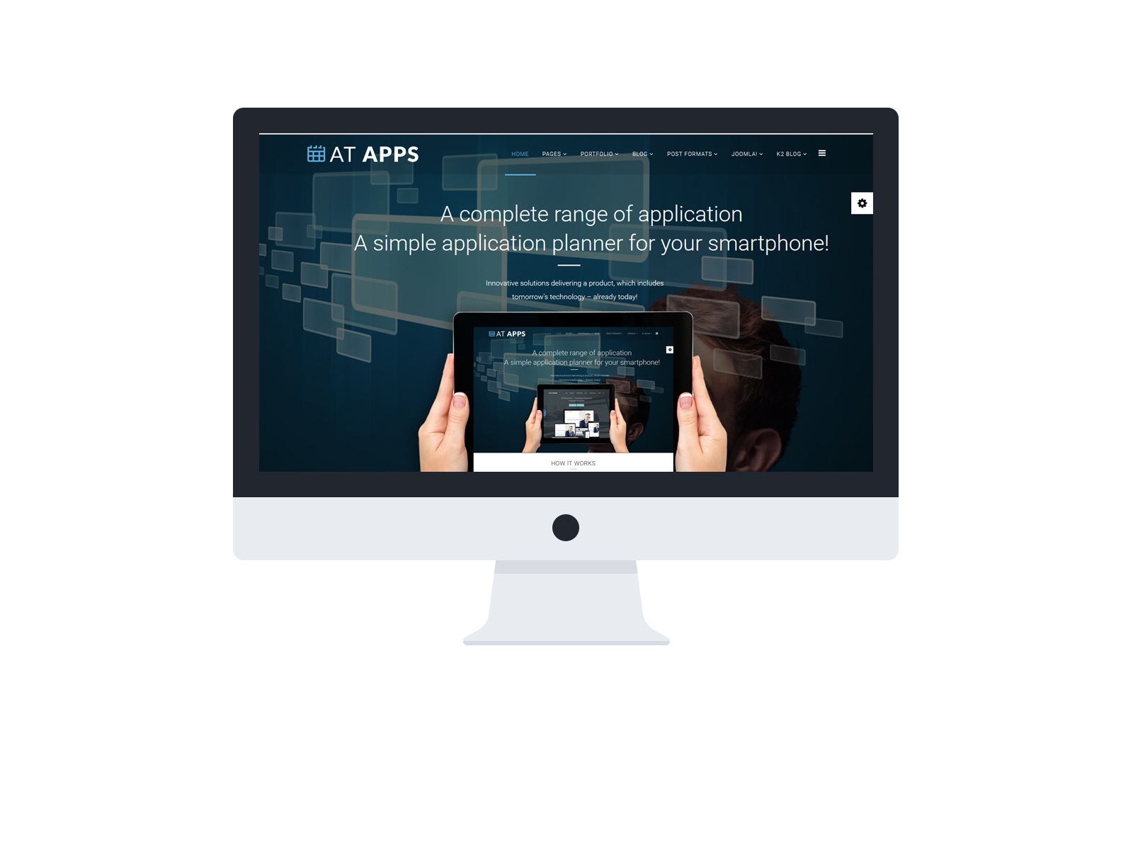At Apps Free Product Showcase Mobile Apps Joomla Template Age