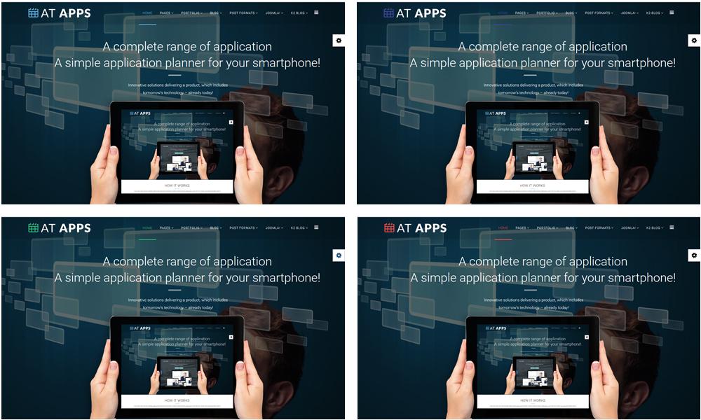 Apps Joomla template Styles