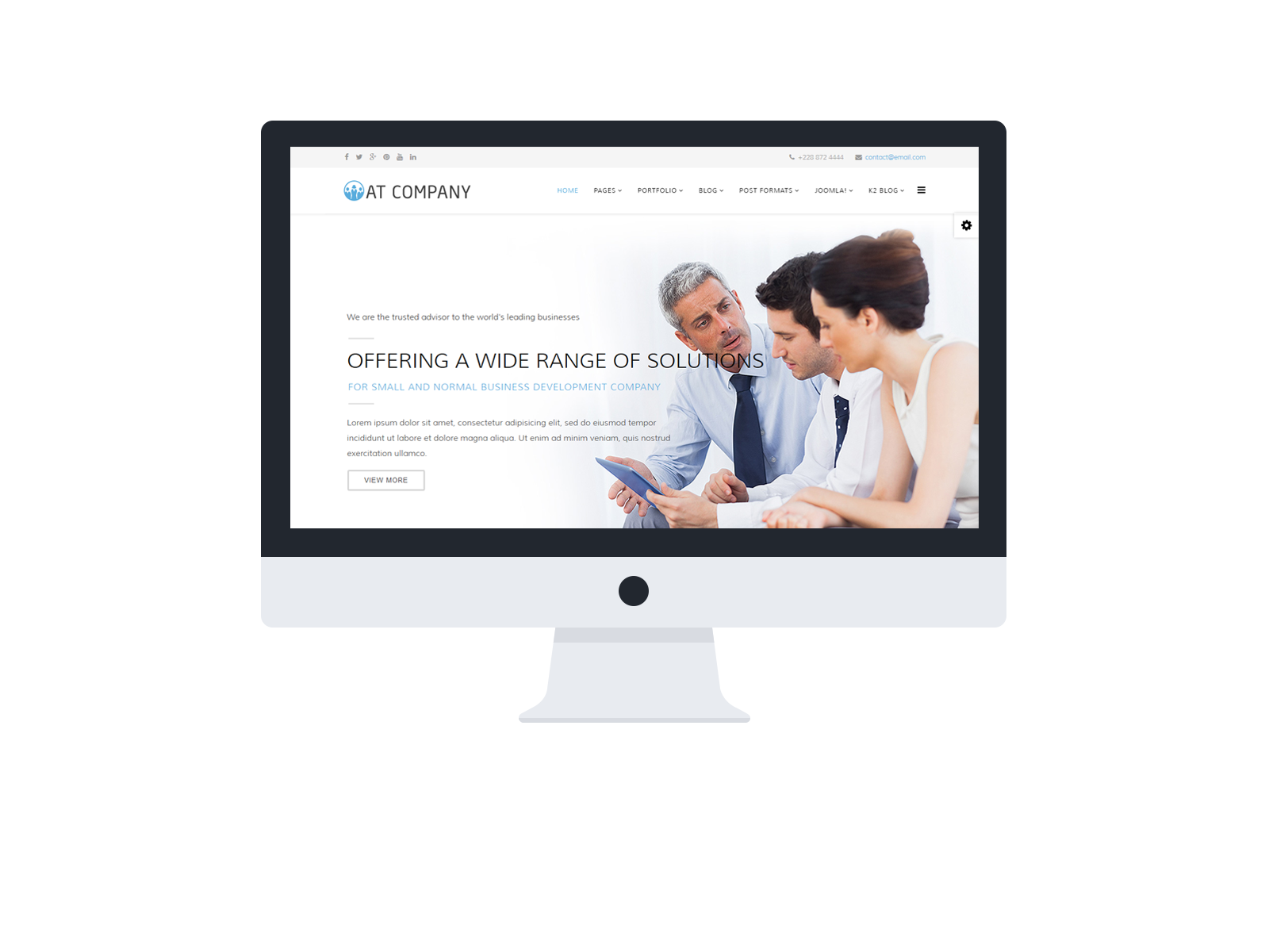 At company free business company joomla template age themes company joomla template desktop wajeb Gallery