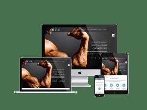 Gym Joomla Onepage responsive template