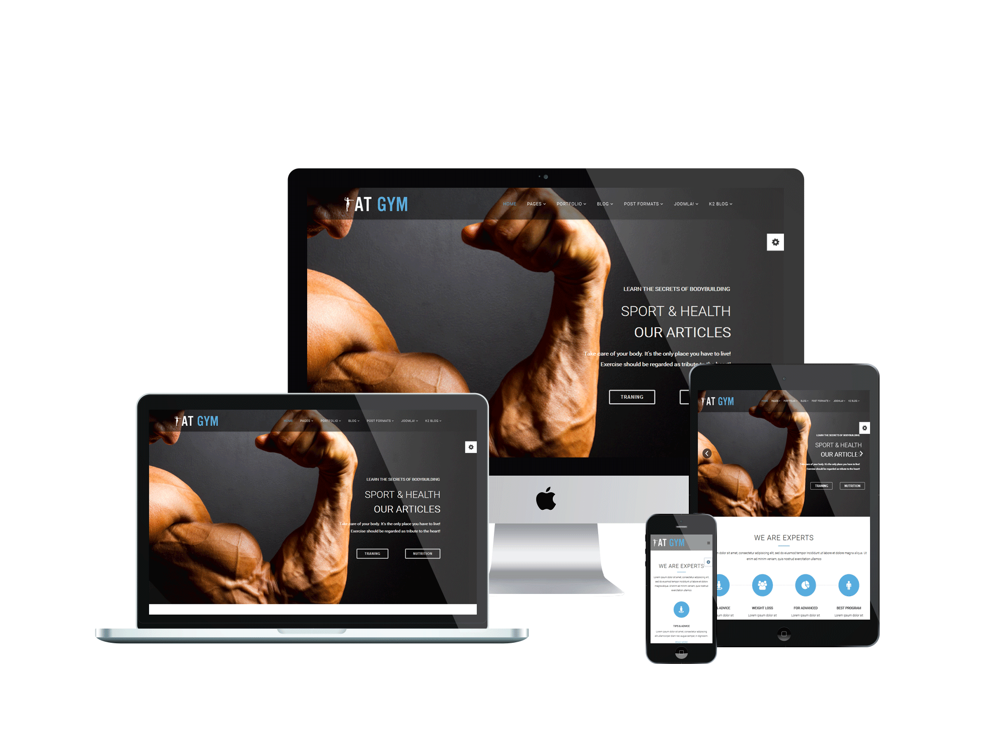 Elegant Gym Joomla Responsive Template Regard To Fitness Templates Free
