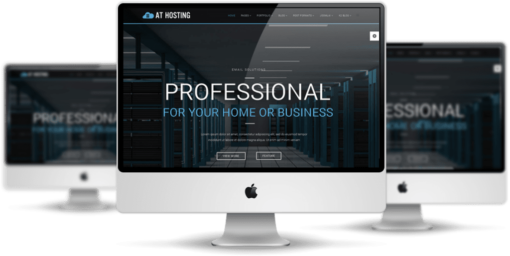 Hosting Joomla template Desktop