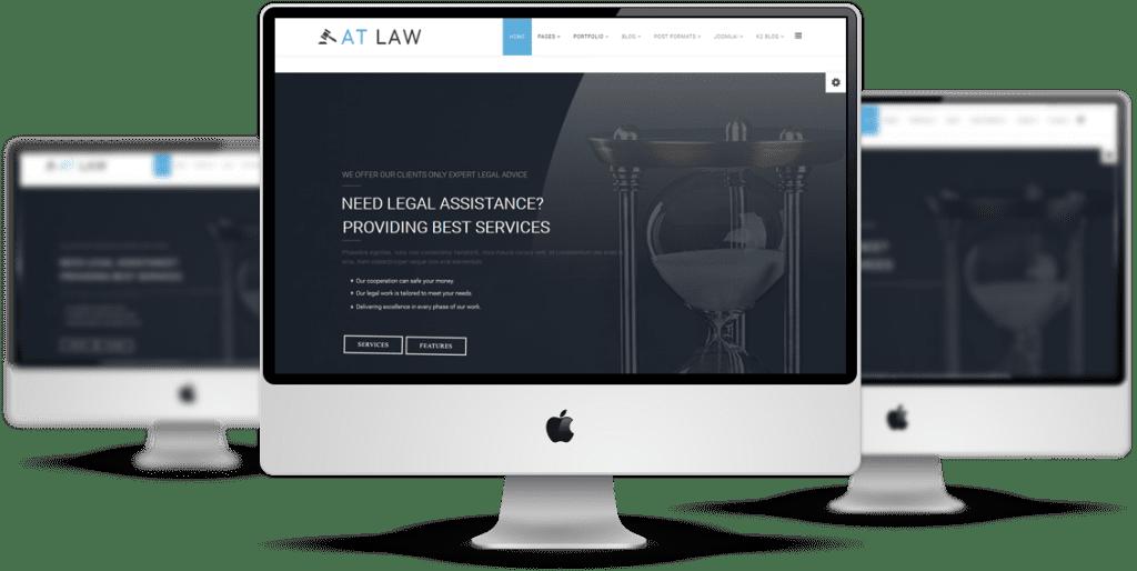Law Joomla! template Desktop