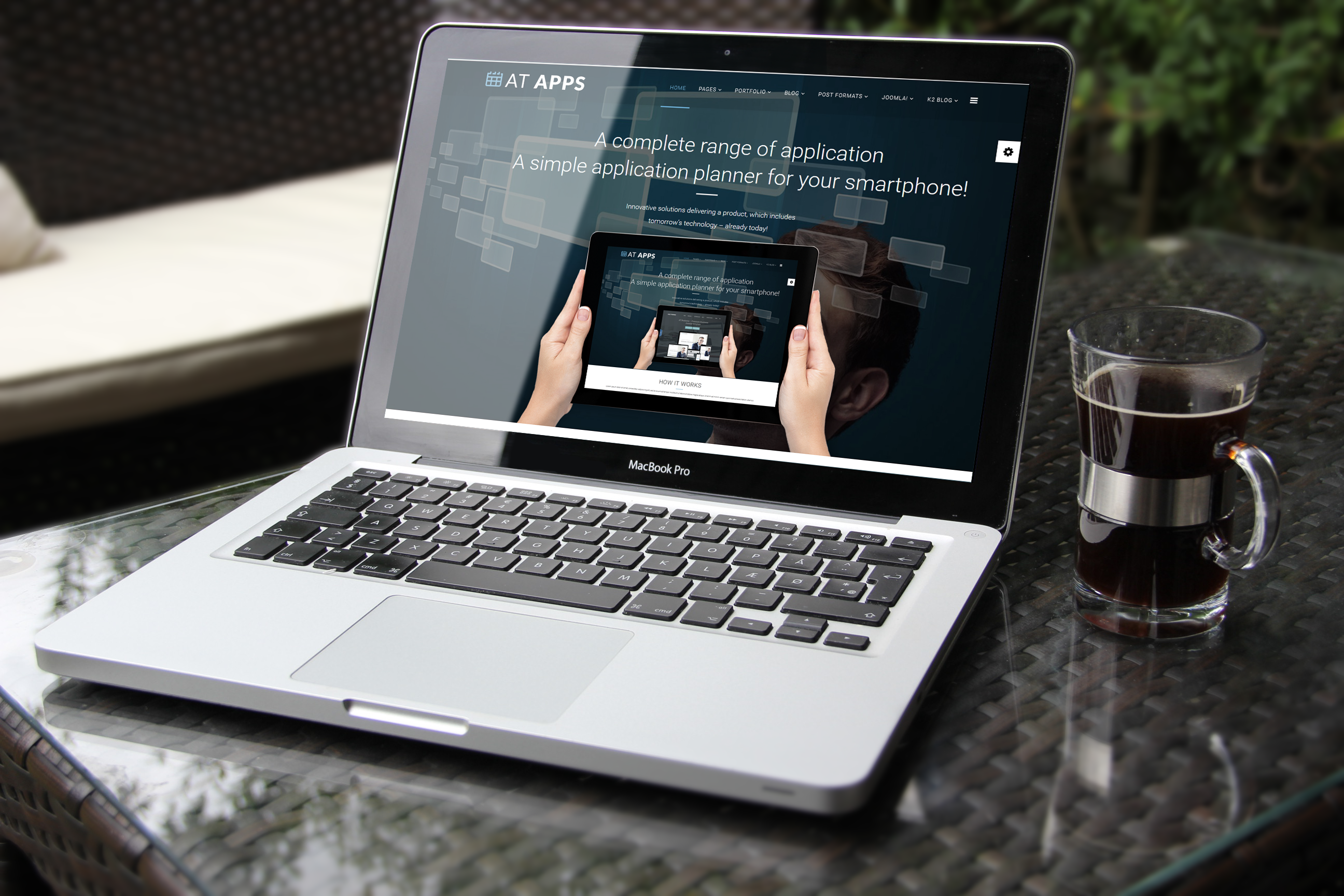 Apps Joomla! template main picture