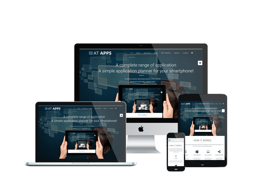 At apps onepage free mobile apps onepage joomla template for Free mobile site template download