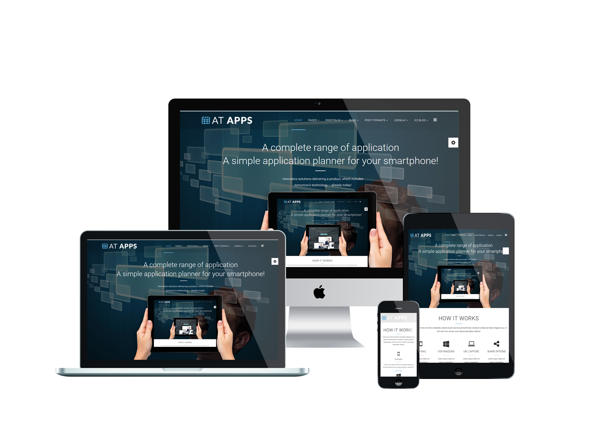AT Apps - Free Product Showcase / Mobile Apps Joomla template