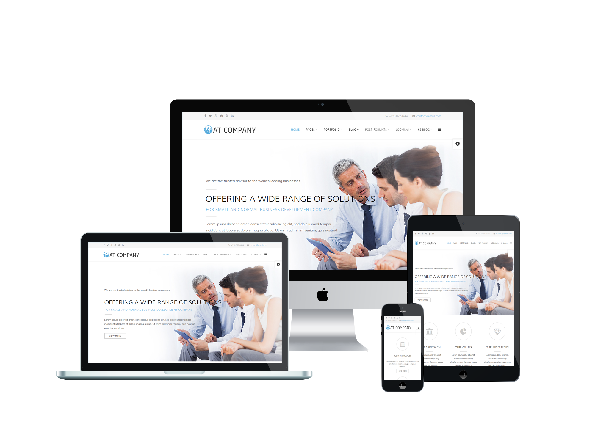 At Company Free Business Company Joomla Template Age Themes