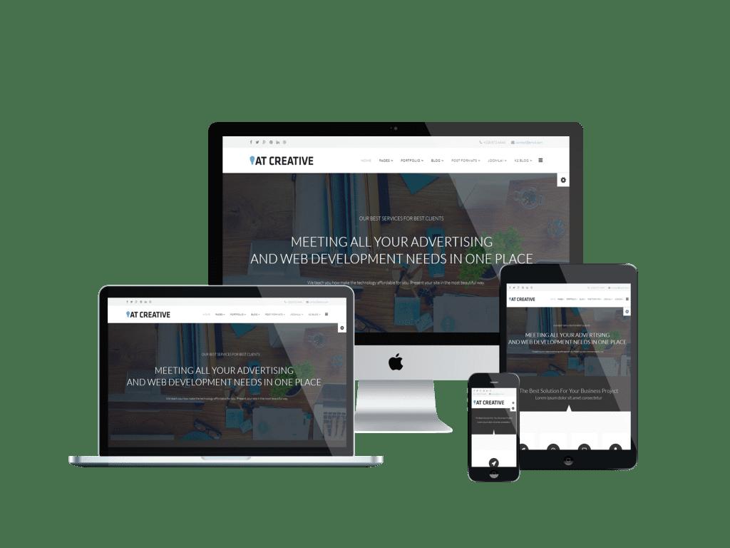 Responsive Creative Onepage Joomla template