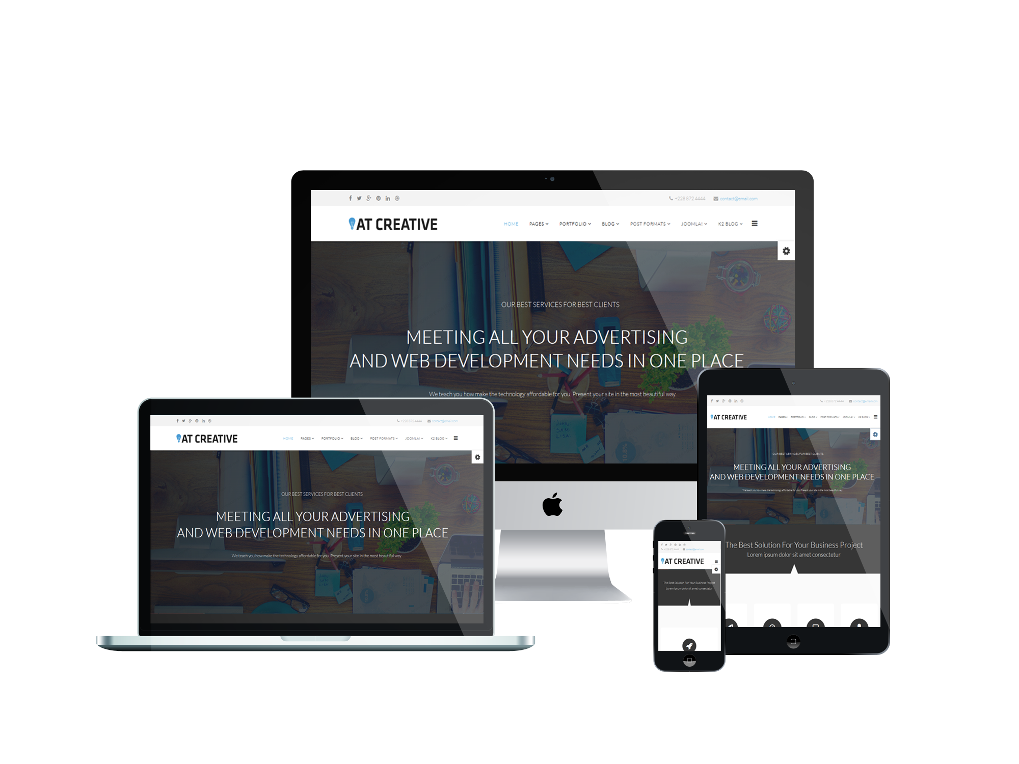 AT Creative - Free Image Design / Creative Joomla template - Age Themes