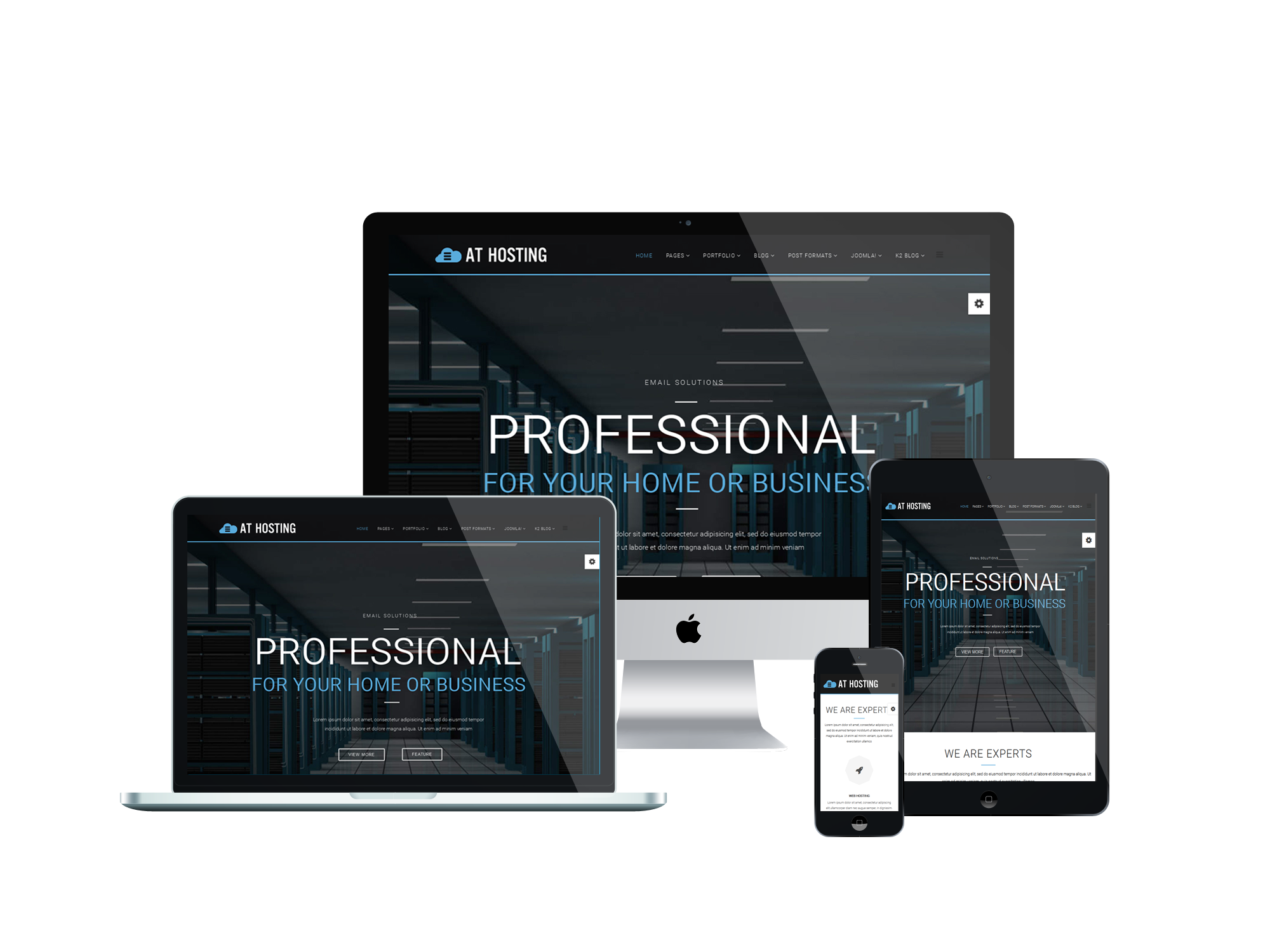 AT Hosting - Free Server / Hosting Joomla template - Age Themes
