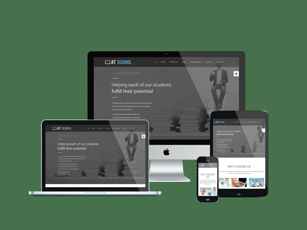 Responsive School Onepage Joomla template