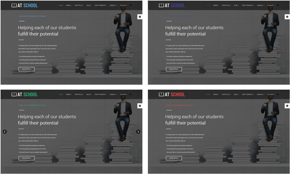 School Joomla template Styles