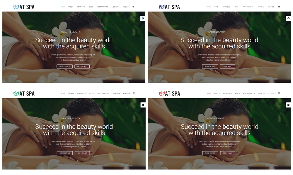 Spa Joomla template colors