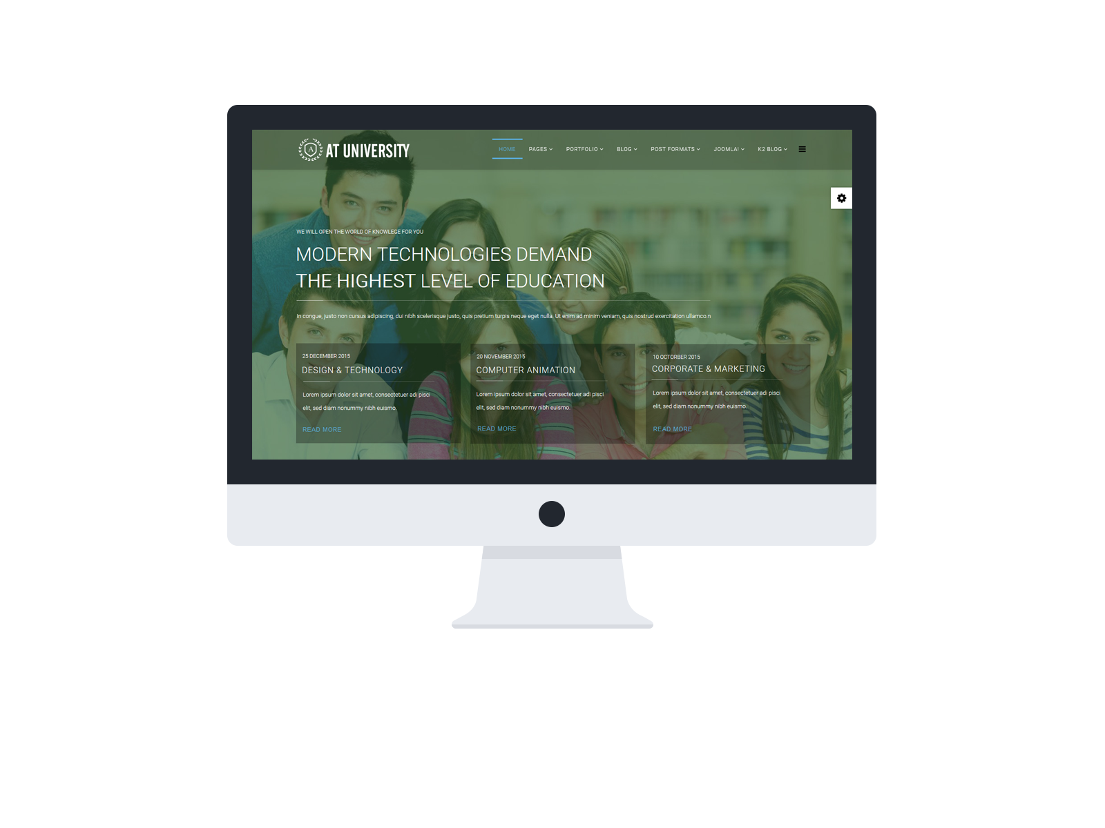 University Joomla template Desktop