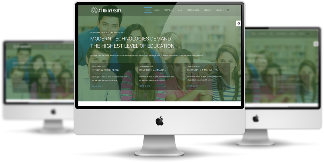 University Joomla template View