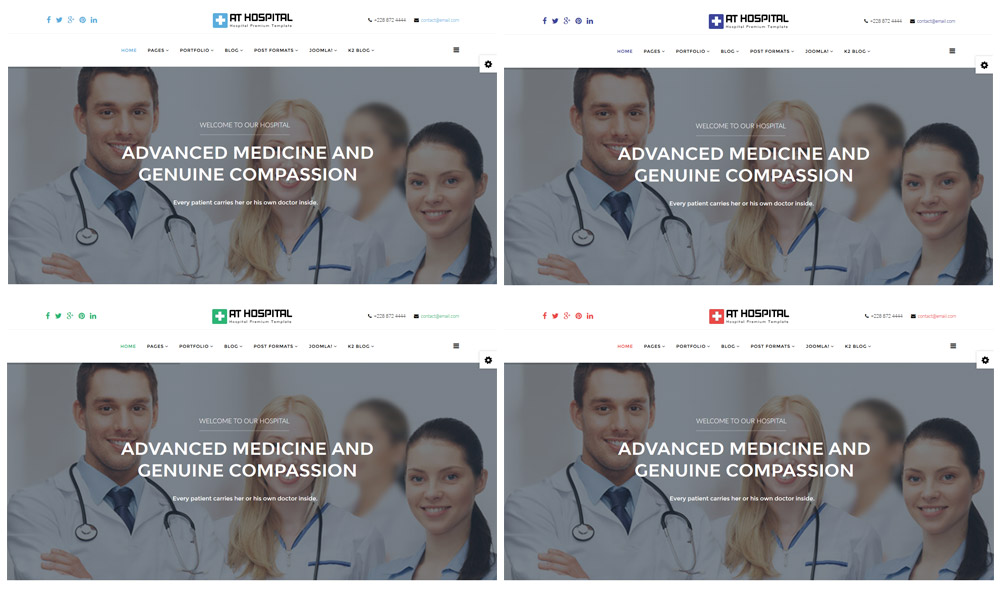 AT Hospital Joomla! template box preset