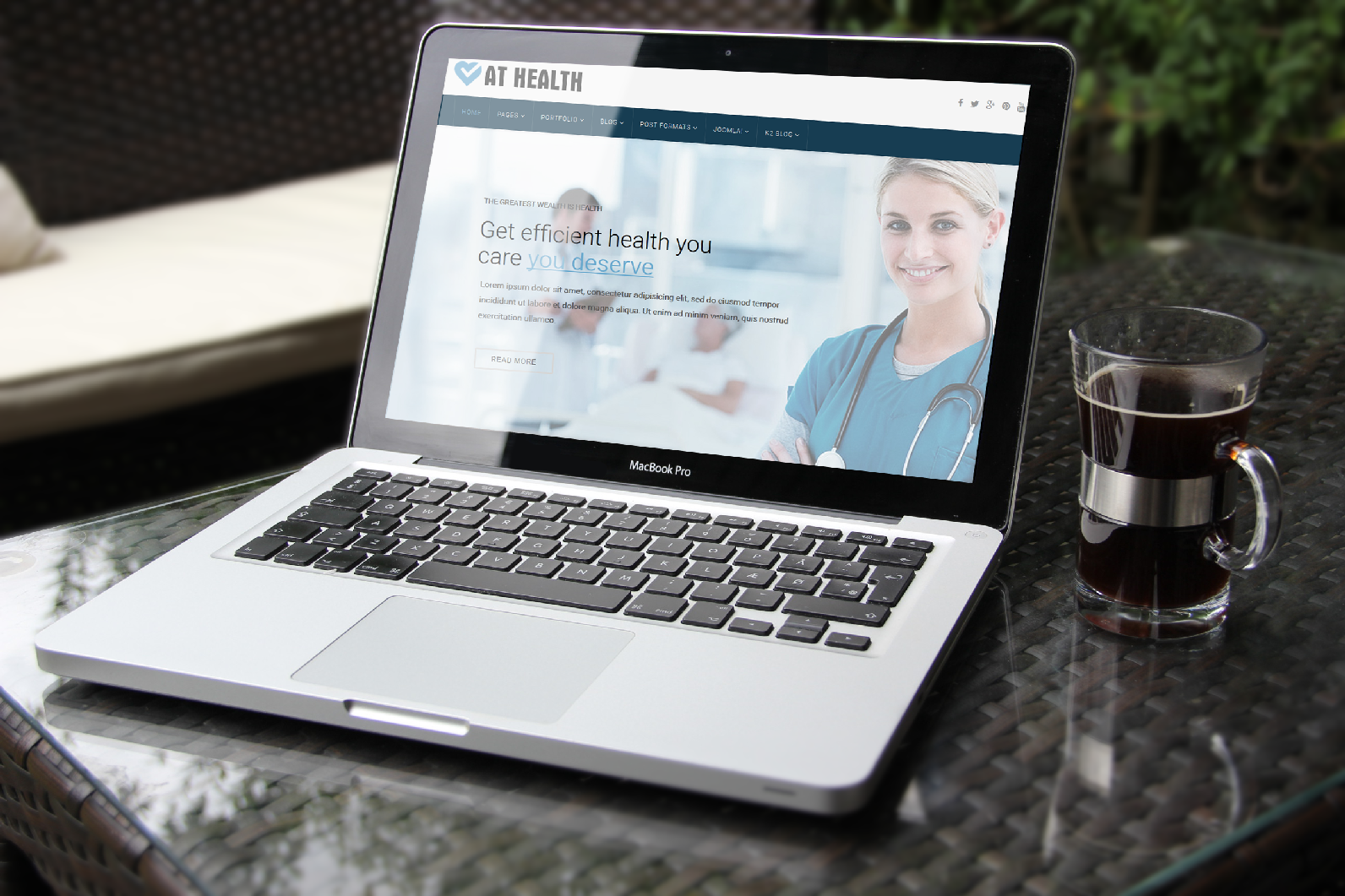 Heathcare Joomla template Main