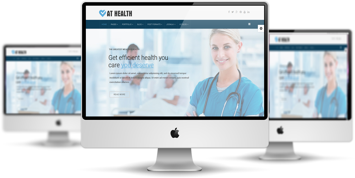 Heathcare Joomla template Preview