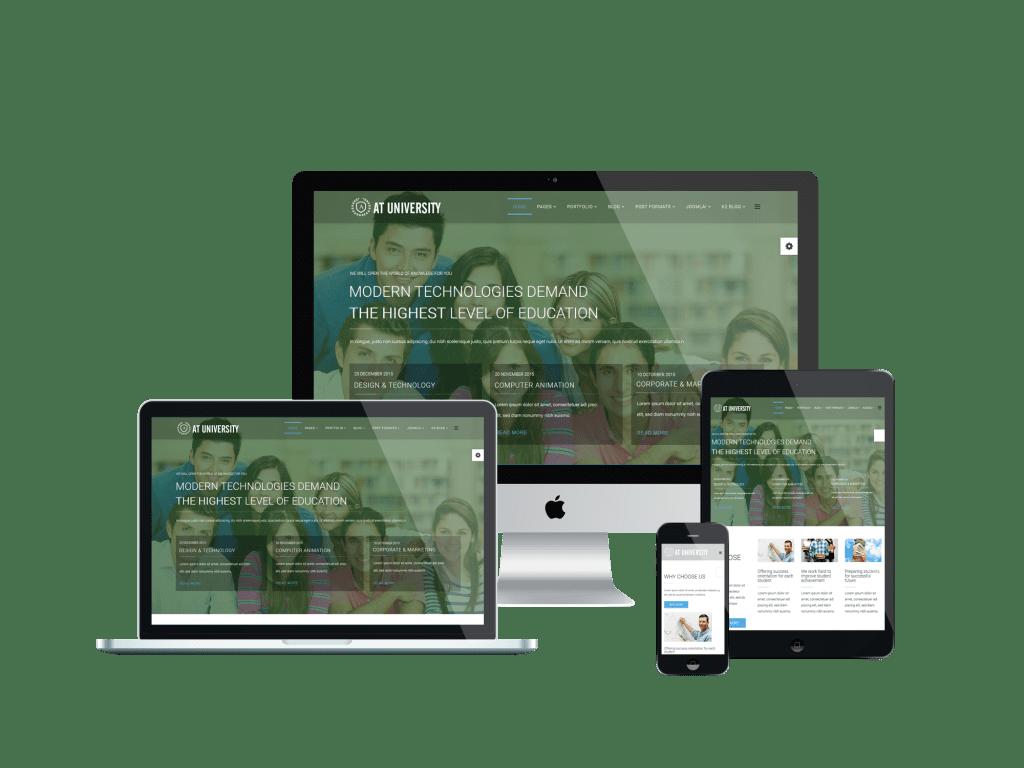 Responsive University Onepage Joomla template