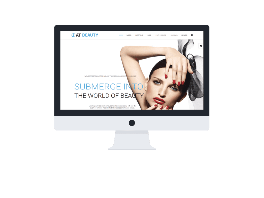 At beauty free spa beauty joomla template age themes for Beauty table style css